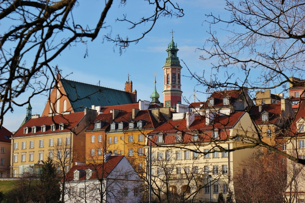 Old Town from Vistula River, Warsaw, Poland,
