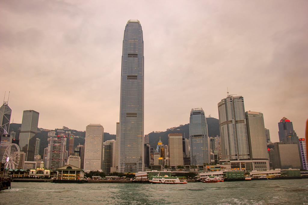 International Finance Center Hong Kong Viewed From Victoria Harbour
