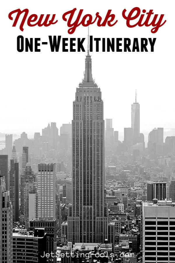New York City One Week Itinerary Info by JetSettingFools.com