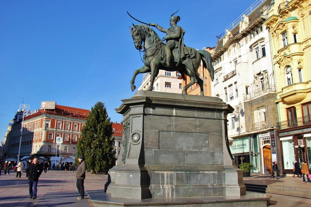 Jelacic Square main square in Zagreb, Croatia