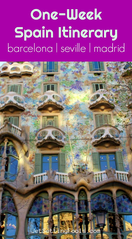 One Week Spain Itinerary by JetSettingFools.com