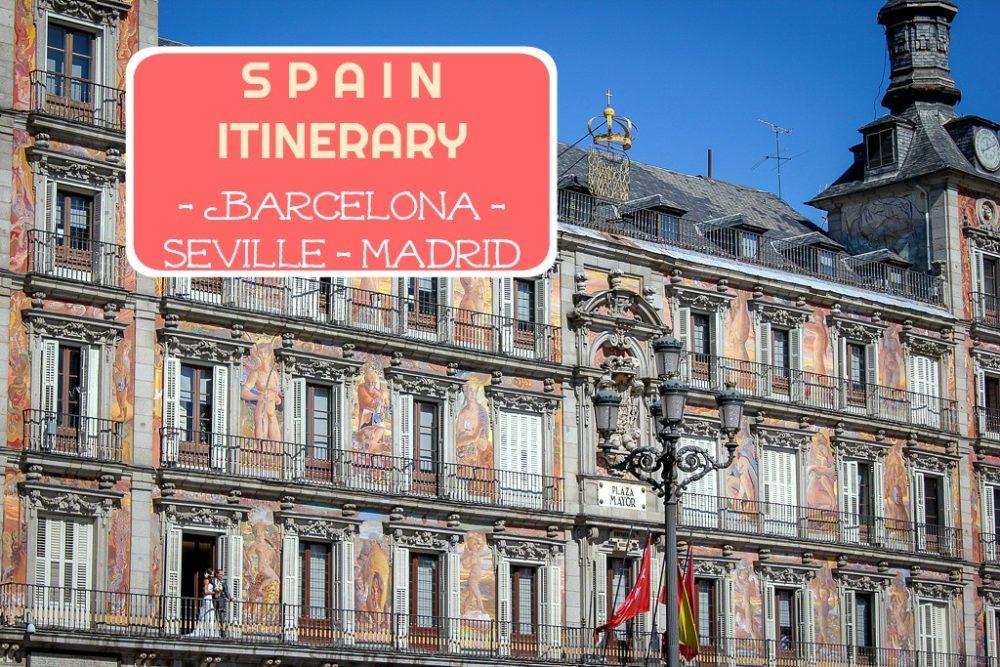 Spain Itinerary Barcelona Seville Madrid by JetSettingFools.com