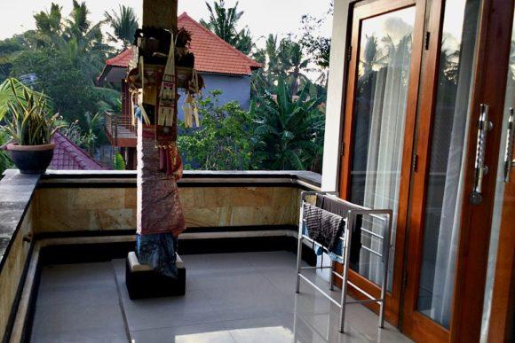 Balcony at room at Chillhouse Homestay, Lembongan Island, Bali, Indonesia