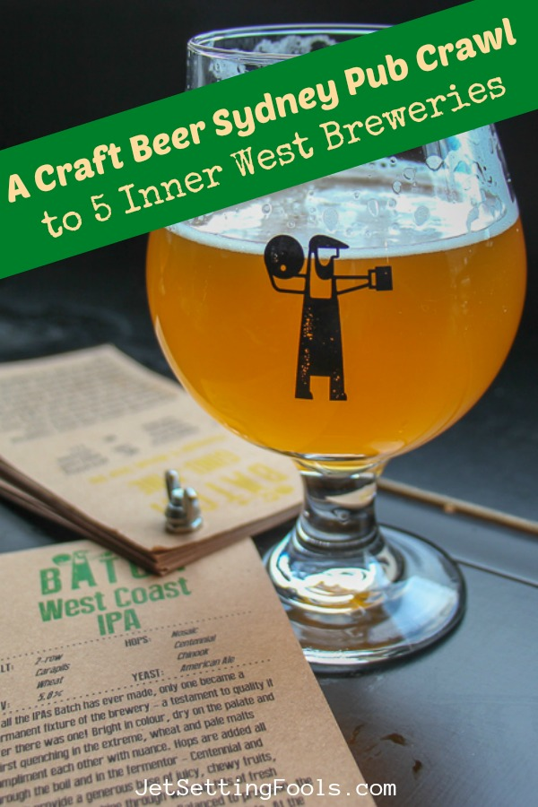 Craft Beer Sydney Pub Crawl to Inner West Breweries by JetSettingFools.com
