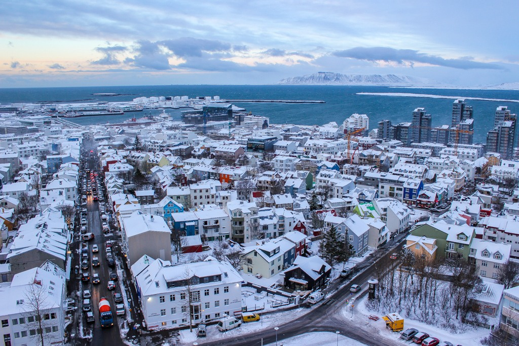 View from church, Reykjavik, Iceland