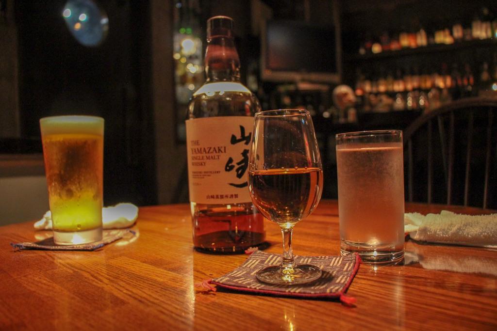 Japanese Whiskey at Bar Bonzo in Tokyo, Japan