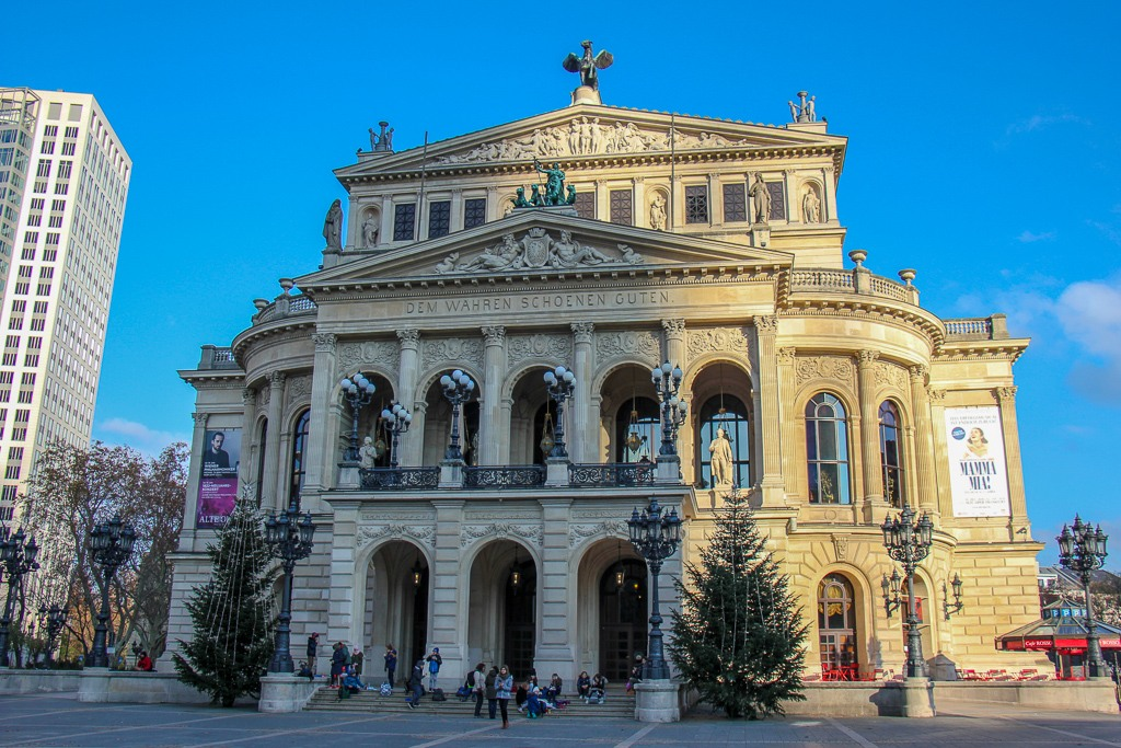 The Old Opera House in Frankfurt, Germany