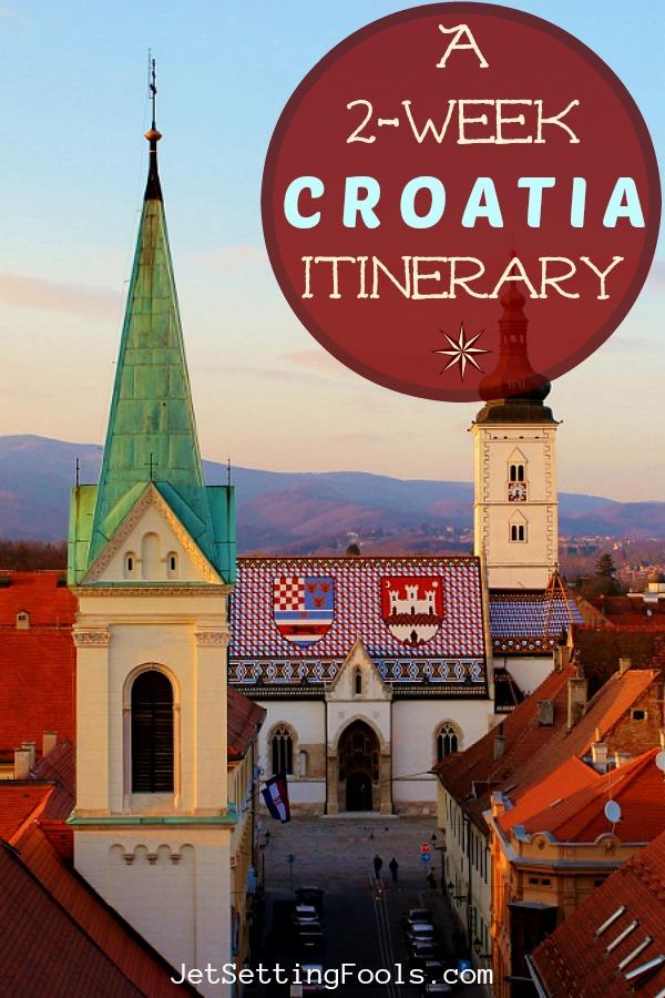 2 week Croatia Itinerary Zagreb St. Mark's Church by JetSettingFools.com
