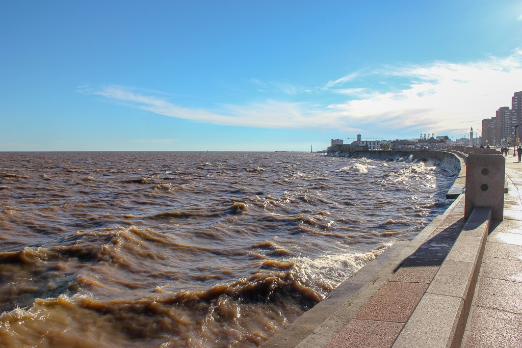 La Rambla on the Rio de la Plata in Montevideo, Uruguay