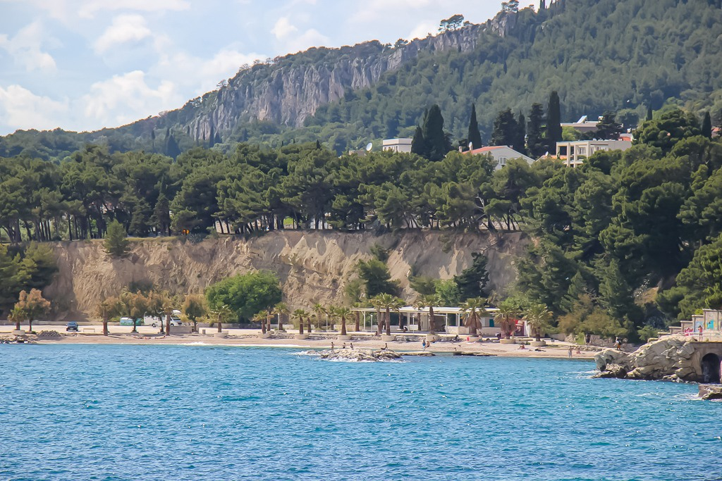 Looking across the water at Jezinac Beach in Split, Croatia