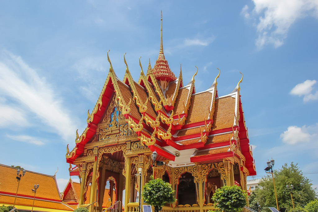 The famous haunted Wat Mahabut Temple in On Nut Bangkok, Thailand