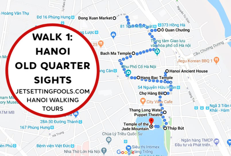 Hanoi Walking Tour Walk 1 by JetSettingFools.com