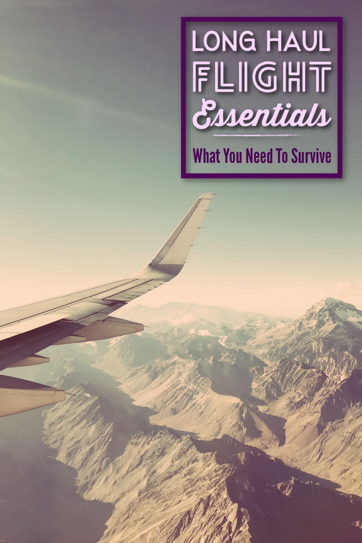 Long Haul Flight Essentials by JetSettingFools.com