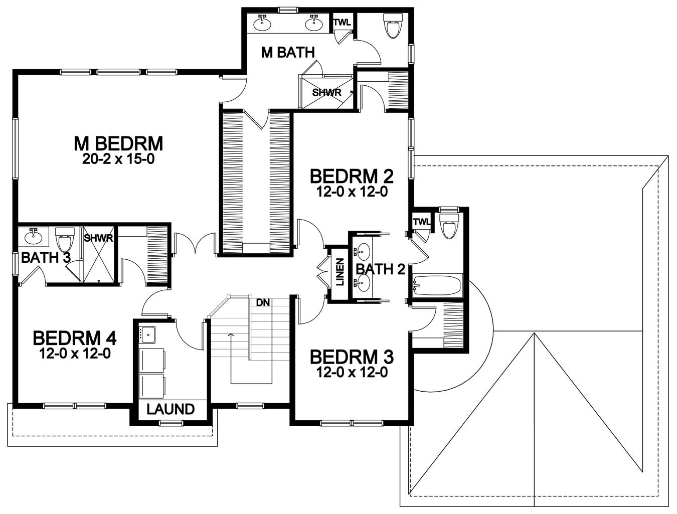 huge master suite and second floor laundry