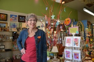 Maureen Ceccarelli, co-director of the Old House Fair, at her Beech Street shop in South Park. (Photo by Bonnie Nicholls)