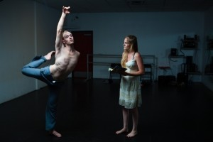 """""""The Warriors' Duet"""" cast in rehearsal (Photo by Rich Soublet)"""