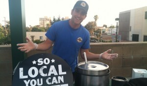 Brad Golden of San Diego Pretzel Company greeted guests on the roof. (Photo by Jessica Dearborn)