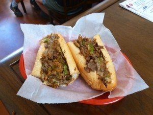 """""""The works"""" cheese steak (Photo by Frank Sabatini Jr.)"""