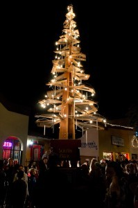 The South Park Luminaria Tree from the First Light event (Photo by Bonnie Nicholls)