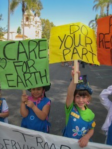 Local girl scouts encourage environmental consciousness during last year's EarthFair in Balboa Park. (Photo by Carolyn Chase)