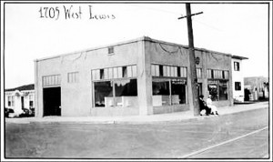 An early shot of the Powers Plumbing building that operates today. While the exact date of the photograph isn't known, it's safe to say that it was taken in the first half of the 20th century. (Courtesy Powers Plumbing)
