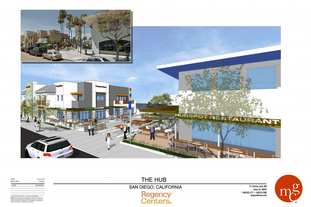 A rendering of the renovated Uptown District Shopping Center (Courtesy Southwest Strategies LLC)