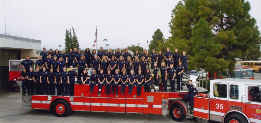 Hutchinson and other women in the San Diego Fire Department (Courtesy Lorraine Hutchinson)