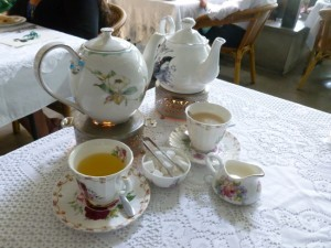 Tea is served in English bone china. (Photo by Frank Sabatini Jr.)