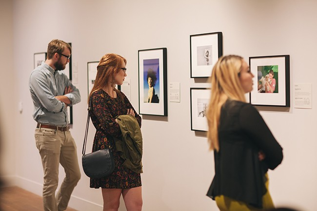 A shot from the exhibit's opening night on Oct. 10 (Photo by Stacy Keck)