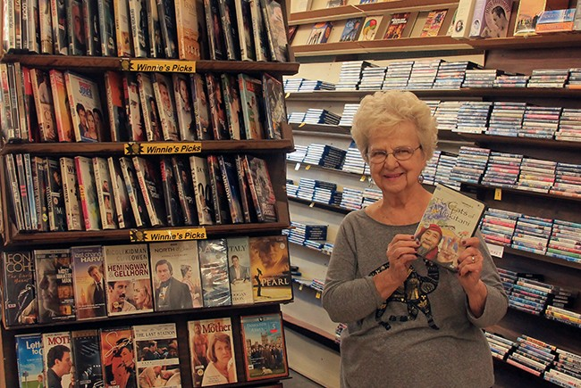 """(above) Winnie Hanford's volumuous recommendation section, """"Winnie's Picks,"""" has been a mainstay in Kensington Video for years; (below) Kensington Video was treasured in the community for its vast collection of rare films. (Photos by Hutton Marshall)"""