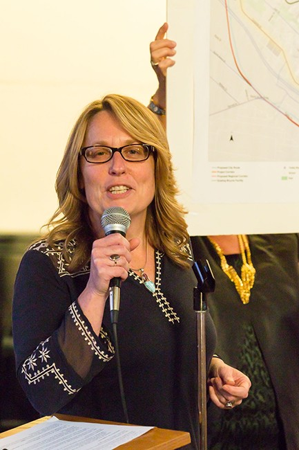Uptown Community Parking District COO Elizabeth Hannon (Photo by John Thurston Photography)