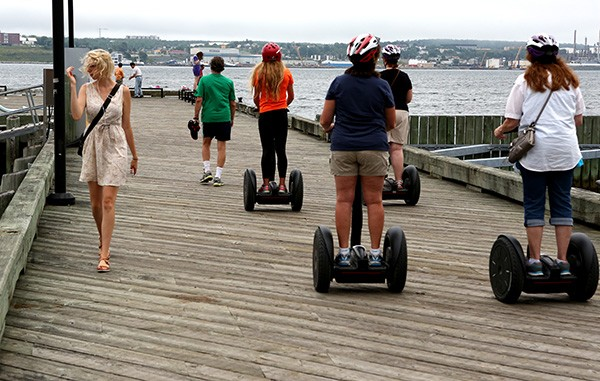 Segway riders along the Halifax waterfront (Photo by Ron Stern)