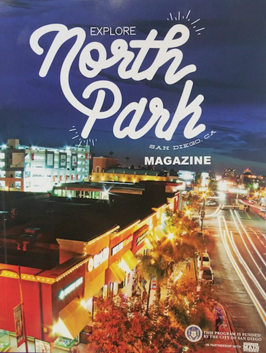 This 128-page full-color magazine touts the wonders of North Park, appealing to tourists. (Courtesy of North Park Main Street)