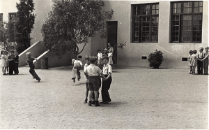 Playground games under a teacher's watchful eyes (Photo courtesy of North Park Historical Society)