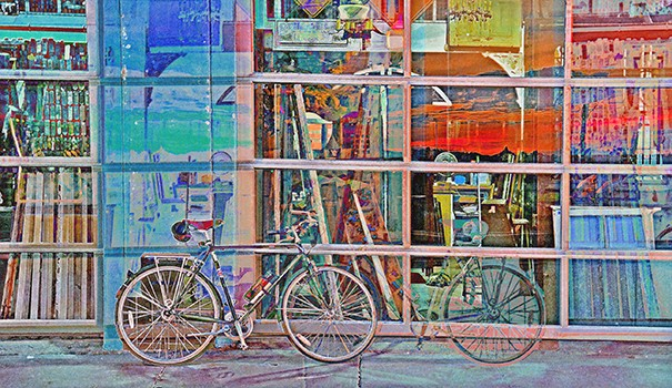 """This art piece by Randy Crawford, a Talmadge resident, is titled """"Velocipede."""" (Courtesy of Randy Crawford)"""