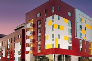 Cedar Gateway Apartments are affordable housing Downtown. (Courtesy of roemcorp.com)