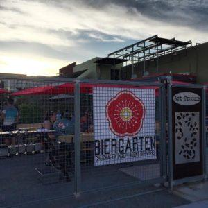 ChuckAlek Biergarten, located at 3139 University Ave. in North Park, is a part of the Art Produce complex. (Photo by Cody Thompson)