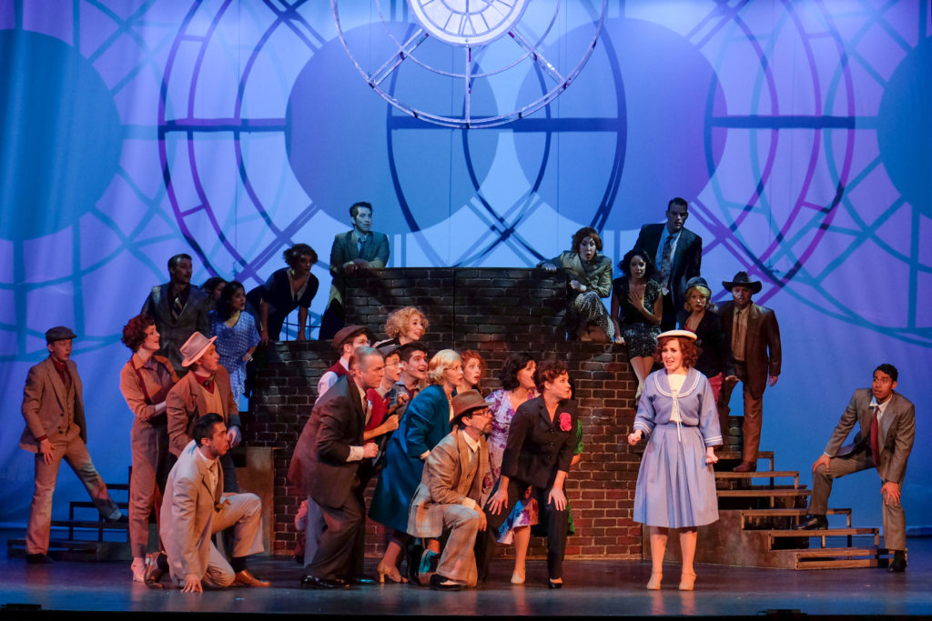 """Scenes from """"42nd Street,"""" presented by San Diego Musical Theatre at Spreckels Theatre (Courtesy of SDMT)"""
