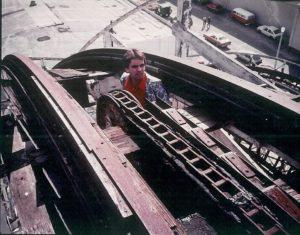 Tim Cole at top peak of Belmont Park's Giant Dipper in 1982 (Courtesy of Tim Cole)