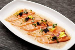 H20 salmon carpaccio from H20 Sushi