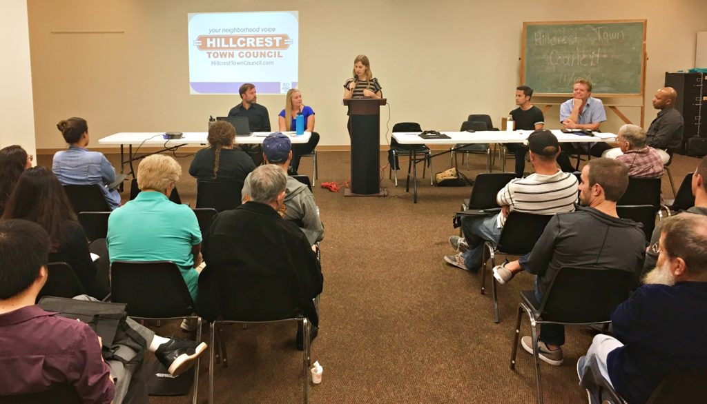 Kath Rogers chaired the Hillcrest Town Council meeting on Nov. 15, the last such gathering of 2016.