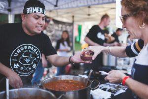 Underbelly employees served up their chili at last year's festival. (Photos by Clickkity)