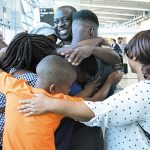Asylum-seeker reunited with family