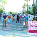 Protesters call on sheriff to stop evictions