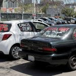 Car protest calls for rent cancellation