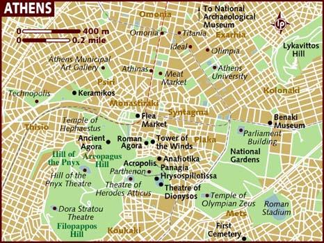 Explorando a cidade de Atenas e outros monumentos antigos