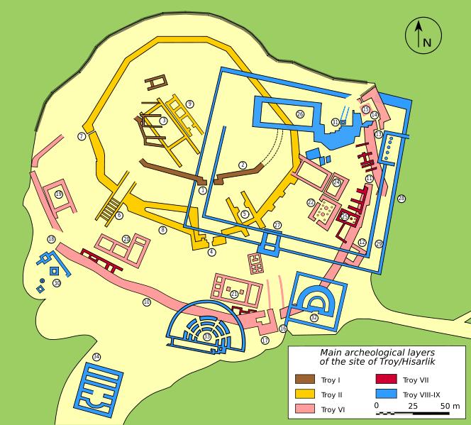 Mapa Troia