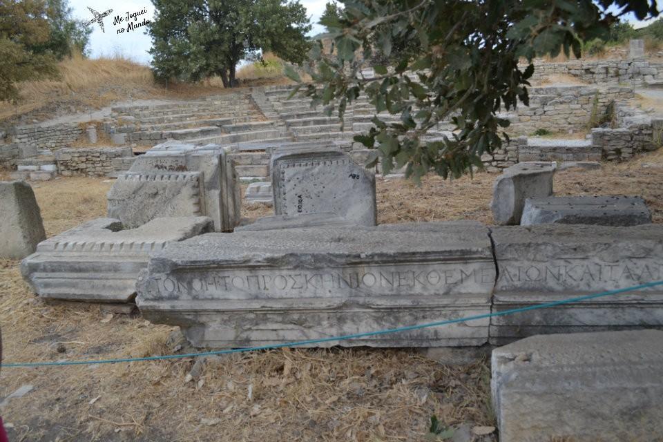 visita ao sitio arqueologico de troia