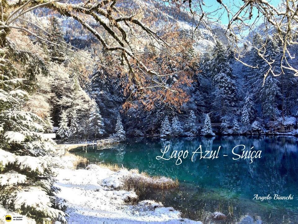 Lago azul suiça