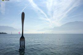 vevey escultura garfo suiça